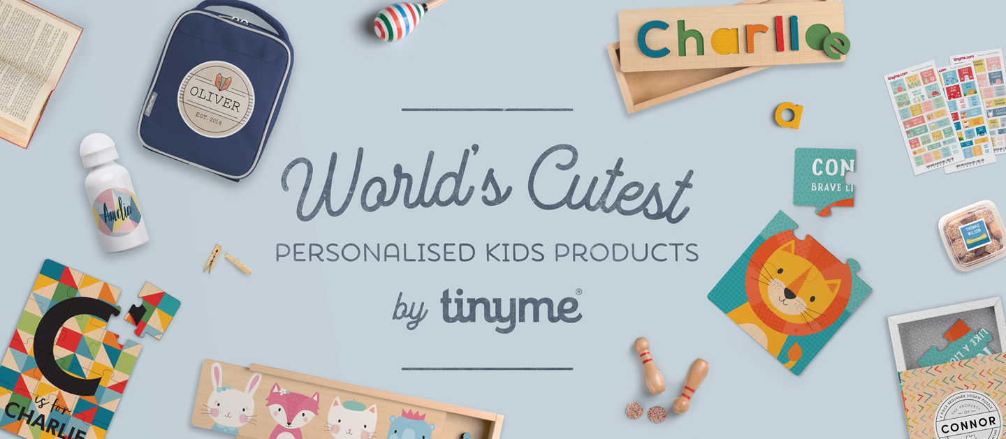 Worlds Cutest Personalised Kids Products by Tinyme