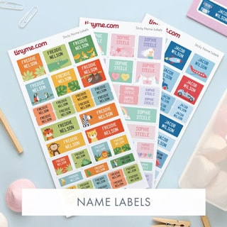 Tinyme Personalised Name Labels